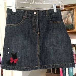 EUC GYMBOREE denim jeans skirt w Scotty Dog sz 8